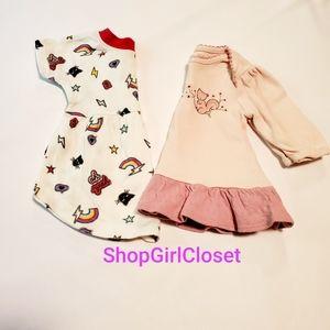 2pc Dress Bundle Girls 0-3 Months